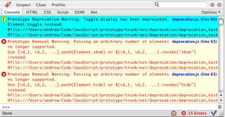 deprecation.js screenshot
